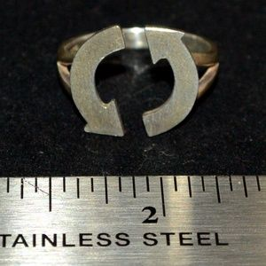 Adjustable Reduce Reuse Recycle Ring Sterling Silv